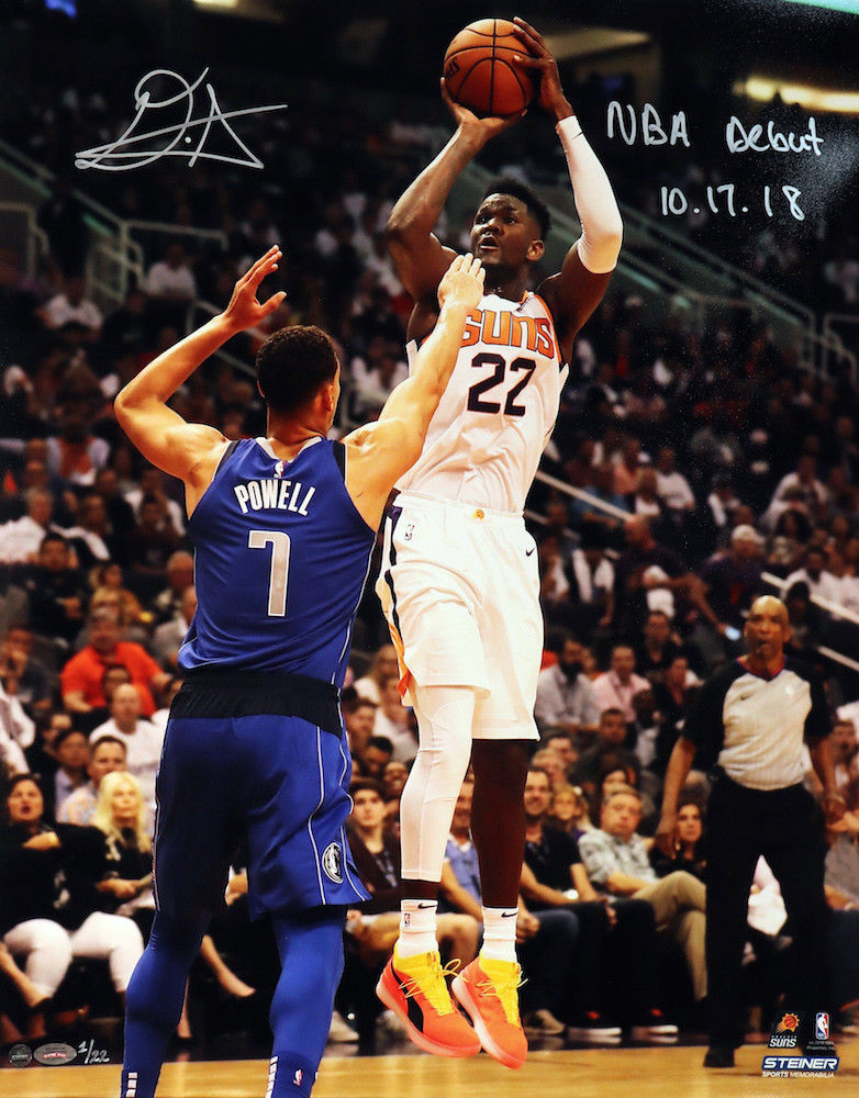 "4ca76f625d69 DEANDRE AYTON Autographed and Inscribed Phoenix Suns ""NBA Debut 10 ..."