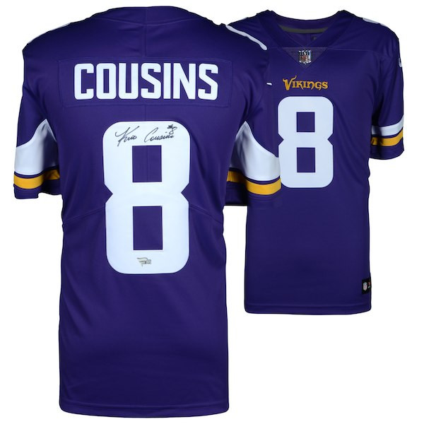 huge discount c02e3 e164a KIRK COUSINS Autographed Minnesota Vikings Purple Nike Game Jersey FANATICS