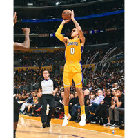 KYLE KUZMA Autographed Los Angeles Lakers Shooting 16 x 20 Photograph FANATICS