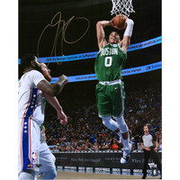 JAYSON TATUM Autographed Boston Celtics Dunking 16 x 20 Photograph FANATICS