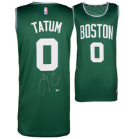 JAYSON TATUM Autographed Boston Celtics Green Fastbreak Jersey FANATICS