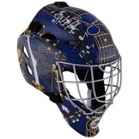 MARTIN BRODEUR Autographed St. Louis Blues Hockey Goalie Mask FANATICS