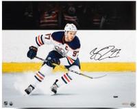 "CONNOR MCDAVID Edmonton Oilers Autographed ""Snow The Cameraman"" 16 x 20 Photograph UDA"