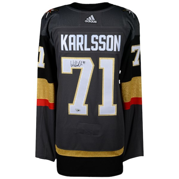 3846cb88eb1 WILLIAM KARLSSON Autographed Las Vegas Golden Knights Black Adidas  Authentic Jersey FANATICS. Price   349.00. Image 1. Larger   More Photos