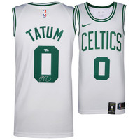 JAYSON TATUM Autographed Boston Celtics White Swingman Jersey FANATICS