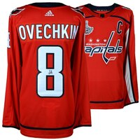 ALEXANDER OVECHKIN Autographed Washington Capitals 2018 Stanley Cup Champions Adidas Red Authentic Jersey with 2018 Stanley Cup Final Patch FANATICS
