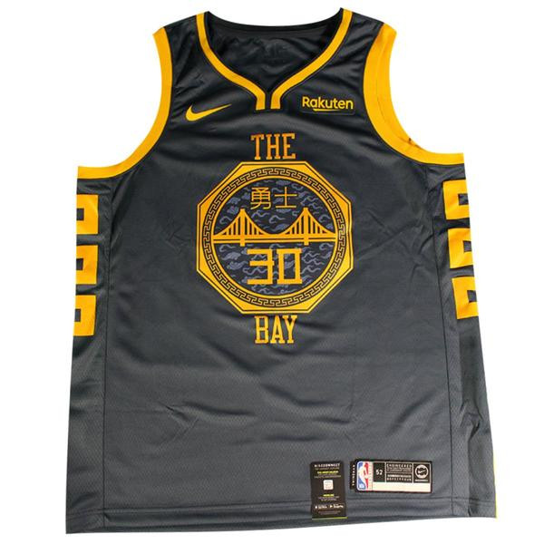 brand new 5f55c 527a6 STEPHEN CURRY Autographed Golden State Warriors Indigo Nike Dri-FIT Men's  Chinese Heritage