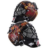 "MARTIN BRODEUR Autographed ""HOF 18"" New Jersey Devils Mini Goalie Mask FANATICS"