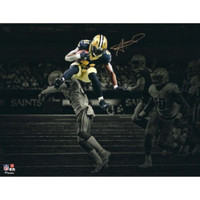 "ALVIN KAMARA Autographed New Orleans Saints 11"" x 14"" Spotlight Photograph FANATICS"