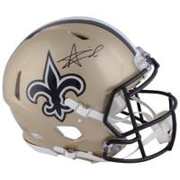 ALVIN KAMARA Autographed New Orleans Saints Speed Authentic Helmet FANATICS