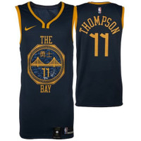 KLAY THOMPSON Autographed Golden State Warriors Nike City Edition Jersey FANATICS