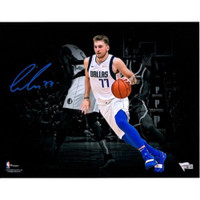 "LUKA DONCIC Autographed Dallas Mavericks 11"" x 14"" Spotlight FANATICS"