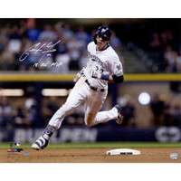 "CHRISTIAN YELICH Autographed ""2018 NL MVP"" Milwaukee Brewers ""Hit For Cycle 9/17/18"" 16"" x 20"" Photograph STEINER"
