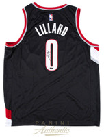 DAMIAN LILLARD Autographed Portland Trailblazers Nike Swingman Black Jersey PANINI