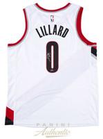 DAMIAN LILLARD Autographed Portland Trailblazers Nike Swingman White Jersey PANINI
