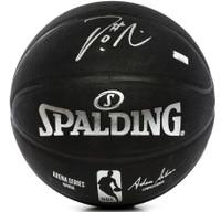 DAMIAN LILLARD Autographed Portland Trailblazers Spalding Replica Black Arena Series Basketball PANINI
