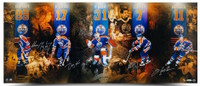 "WAYNE GRETZKY, JARI KURRI, GRANT FUHR, PAUL COFFEY & MARK MESSIER Autographed ""Reunion"" 36""x15"" Photograph Limited Edition of 100 UDA"