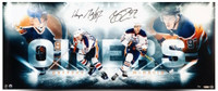 "WAYNE GRETZKY & CONNOR MCDAVID Autographed ""Bright Lights"" 36 x 15 Photograph Limited Edition of 100 UDA"