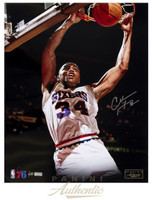 "CHARLES BARKLEY Autographed Philadelphia 76ers ""Slam"" 16"" x 20"" Photograph Limited Edition 1 of 134  PANINI"