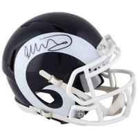 TODD GURLEY Autographed Los Angeles Rams Speed Mini Helmet FANATICS