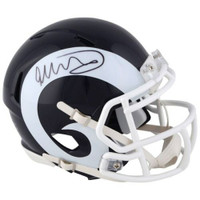 TODD GURLEY Autographed Los Angeles Rams Speed Mini Helmet FANATICS