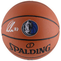 LUKA DONCIC Autographed Dallas Mavericks Logo Spalding Basketball FANATICS