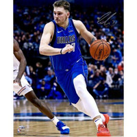 "LUKA DONCIC Autographed Dallas Mavericks 'Driving' 16"" x 20"" Photograph FANATICS"
