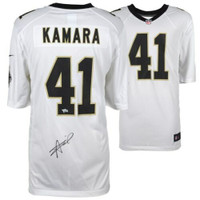 ALVIN KAMARA Autographed New Orleans Saints Nike Game White Jersey FANATICS