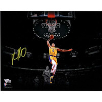 "KYLE KUZMA Autographed Los Angeles Lakers 11"" x 14"" Spotlight Photograph FANATICS"