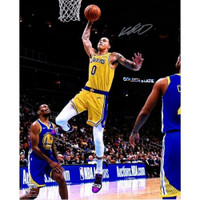 "KYLE KUZMA Autographed Los Angeles Lakers 16"" x 20"" Driving Layup FANATICS"