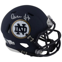 AARON JUDGE Autographed 2018 Notre Dame Shamrock Game Speed Mini Helmet FANATICS