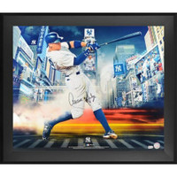 "AARON JUDGE New York Yankees Autographed ""Titans Of The Game"" Framed 20"" x 24"" Photograph FANATICS"