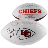 PATRICK MAHOMES Autographed Kansas City Chiefs White Panel Football FANATICS
