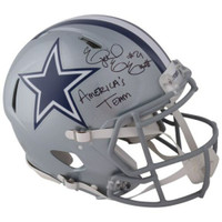 "EZEKIEL ELLIOTT Autographed Dallas Cowboys ""Americas Team"" Authentic Speed Helmet FANATICS"