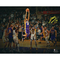 "BRANDON INGRAM Los Angeles Lakers Autographed 11"" x 14"" Spotlight (in purple jersey) Photo FANATICS"