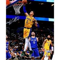 "KYLE KUZMA Autographed Los Angeles Lakers 8"" x 10"" 'Dunk Vs. Magic' Photograph FANATICS"