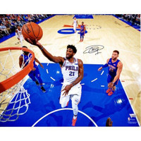 "JOEL EMBIID Philadelphia 76ers Autographed ""Lay Up Vs. Detroit"" 16"" x 20"" Photograph FANATICS"