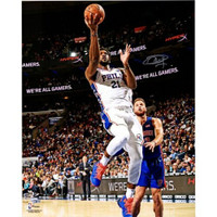 "JOEL EMBIID Philadelphia 76ers Autographed ""Lay Up"" 16"" x 20"" Photograph FANATICS"