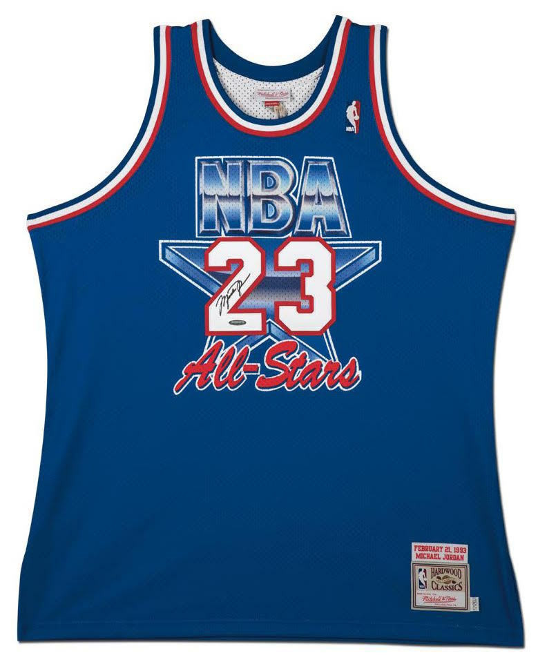 MICHAEL JORDAN Signed 1993 Mitchell   Ness NBA All Star Authentic Jersey  UDA. Price   3 1a9128657