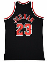 MICHAEL JORDAN Signed Chicago Bulls Mitchell & Ness Authentic Alternate Black Jersey UDA