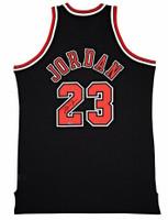MICHAEL JORDAN Signed Chicago Bulls Mitchell & Ness Authentic Alternate Black Jersey UDA
