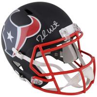 DESHAUN WATSON Autographed Houston Texans Full Size Black Matte Replica Helmet FANATICS