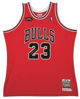 18dbf275a737bb MICHAEL JORDAN Autographed 1998 Chicago Bulls Red Authentic Finals Jersey  UDA