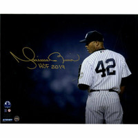 "MARIANO RIVERA New York Yankees Autographed / Inscribed ""HOF 2019"" 'Stare Down' 8"" x 10"" Photograph STEINER"