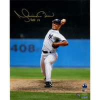 "MARIANO RIVERA New York Yankees Autographed / Inscribed ""HOF 2019"" 'Vertical Pitching' 8"" x 10"" Photograph STEINER"