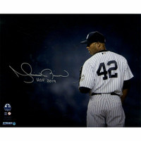"""MARIANO RIVERA New York Yankees Autographed / Inscribed """"HOF 2019"""" 'Stare Down' 16"""" x 20"""" Photograph STEINER"""