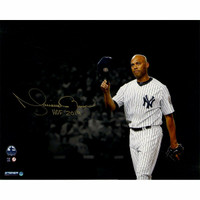 "MARIANO RIVERA New York Yankees Autographed / Inscribed ""HOF 2019"" 'Tip Cap' 16"" x 20"" Photograph STEINER"