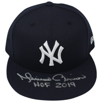 "MARIANO RIVERA Autographed New York Yankees ""HOF 2019"" New Era Fitted Hat STEINER"