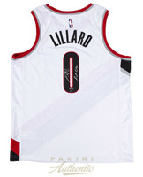 "DAMIAN LILLARD Autographed / Inscribed ""Rip City"" Portland Trailblazers Nike Swingman White Jersey - Limited Edition of 100 PANINI"