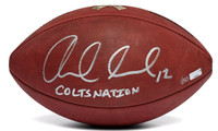 "ANDREW LUCK Autographed / Inscribed ""COLTSNATION"" Salute the Troops Authentic Football Limited Edition of 50 PANINI"